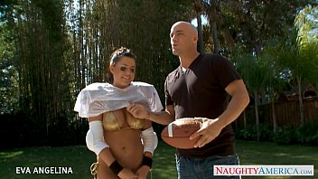 splendid eva angelina suck and ride a large pecker