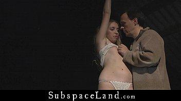 fresh breasted blonde slut bondage toy to whip.