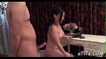 stud is ravishing japanese babe'_s perky large tits wildly