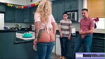(ryan conner) sexy busty housewife in hardcore sex.