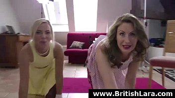 sexy british milf in threesome with.