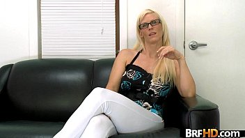 blonde nerdy girl with glasses horny, wet and.