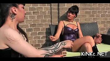 mistress wraps up her serf