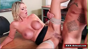 big tits teacher fucked at school.