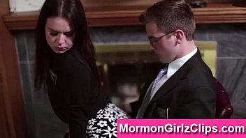 mormon milf takes cumshot from young.