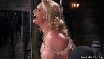 big tits milf in hogtie hard.