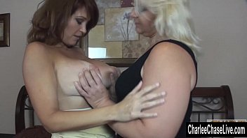 blonde bbw makes big tit charlee.