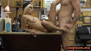 very slim blond babe pounded by.