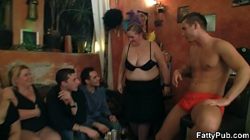 big tits party with striping and.