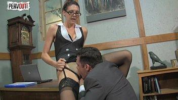 kinky boss sadie holmes femdom handjob.
