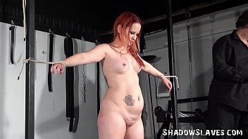 redhead amateur slaves whipping and tied dungeon breast.