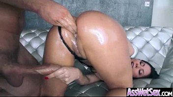 hardcore anal sex with oiled curvy big ass.