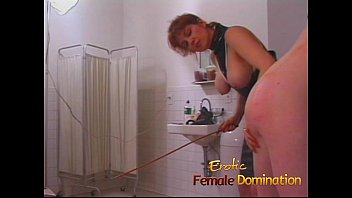 dominatrix makes a first time slave cry in.