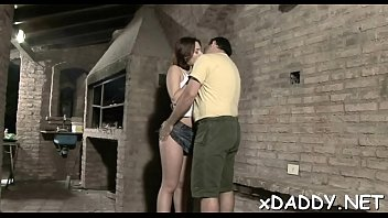 passionate teen prefers her old neighbor to boys.