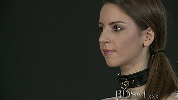 bdsm xxx young big breasted sub gets hard.