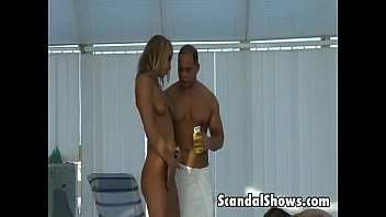 blond girl makes out with a.