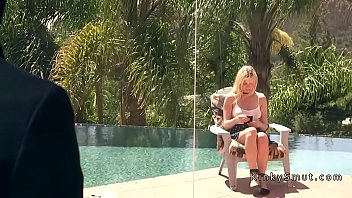 blackmailed blonde wife anal fucked in.
