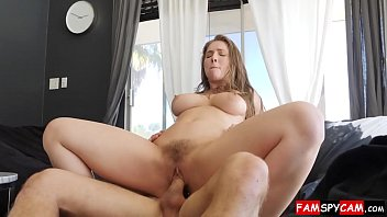 hot step sister seduces brother into oily titty fuck