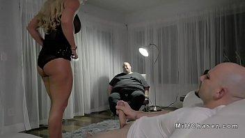 wife sucks huge dick in front.