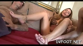 fine babe gets out her sexy feet and.