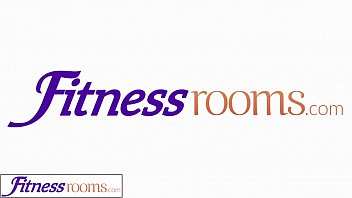 fitness rooms young sweaty gym girls have lesbian.