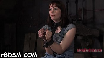 restrained slave receives lusty torture for her naughty.