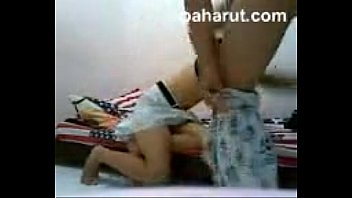 malay couple sex on colorful bed