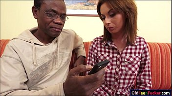 wanessa gets rubbed by mature black guy before.