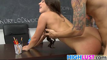 schoolgirl plays with teachers ballslls