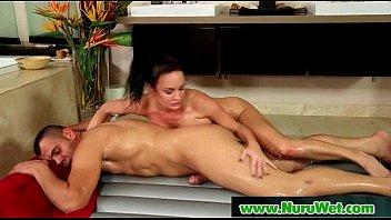 slippery japanes nuru massage and sensual fuck scene 17