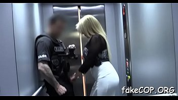 non-stop orgasms by a fake cop