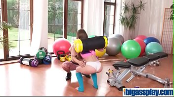 cute shy gym girl with older woman(blanche bradburry.
