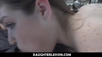 step daughter gives dad a handjob