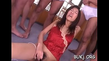 japan babe gets many dongs to satisfy her.