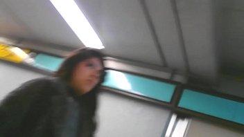 siguiendo a nena por el metro rico upskirt.