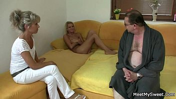 gf sucks and rides her bf'_s old dad cock