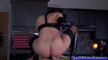 feisty housewife riding his hard cock