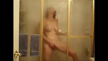 my horny mom fingering in shower..