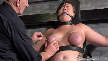 tied slave taylor hearts breast bondage and elastic.