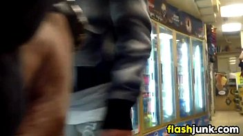 flashing cock at a convenience store