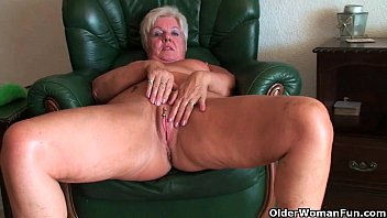 64 year old and british granny sandie rubs.