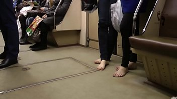 dirty feet in the winter on subway part.