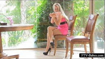 high heeled  blonde  tit fucks and.