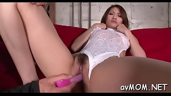 hot milf gets on knees to engulf in.