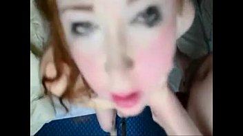 redhead hard face fuck