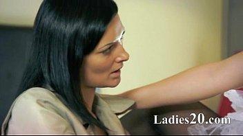 two amazing amazing lesbians using strap