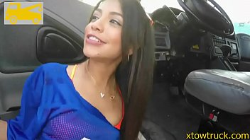 sexy latin teen squirter saves her car from.