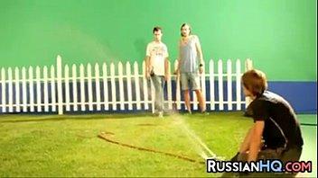 busty russian beauty on a video.