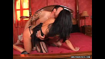 black haired babe with pierced clit.