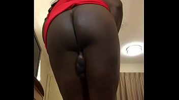 hot girl shows off her big booty and.